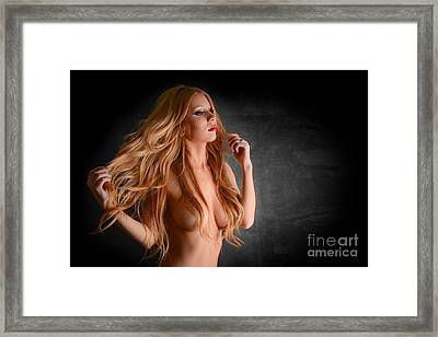 Sexy Red Head  Framed Print by Jt PhotoDesign