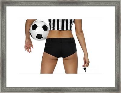 Sexy Referee Framed Print by Oleksiy Maksymenko