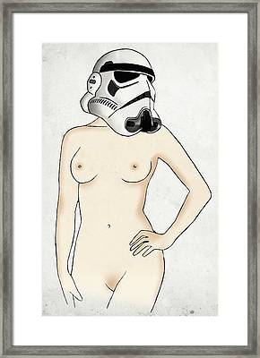 Sexy Stormtrooper Framed Print by Nicklas Gustafsson