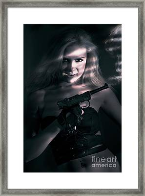 Sexy Woman Assassin Framed Print