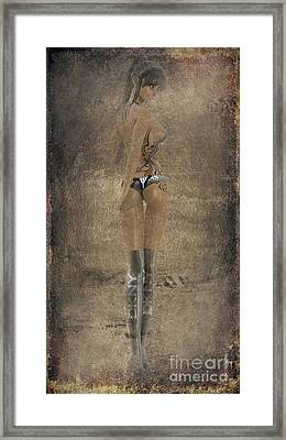 Sexy Woman In Copper Framed Print