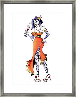 Sexy Woman Party - Happy New Year Framed Print