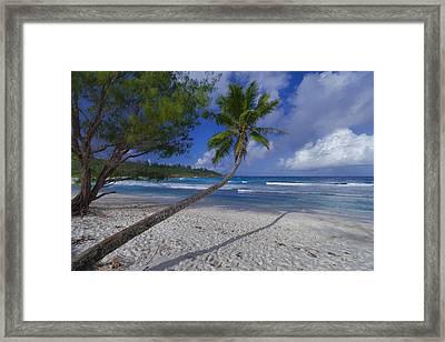 Seychelles Beach Framed Print