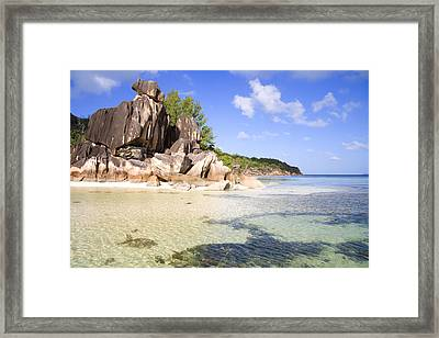 Seychelles Rocks Framed Print by Alexey Stiop