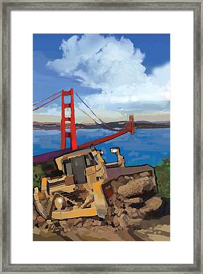 Sf And D9 Framed Print by Brad Burns