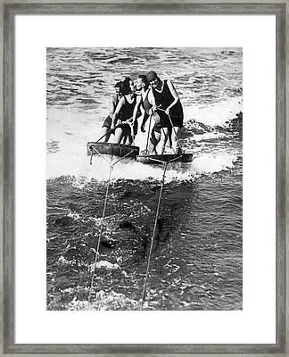 Sf Aquaplane Lovers Framed Print