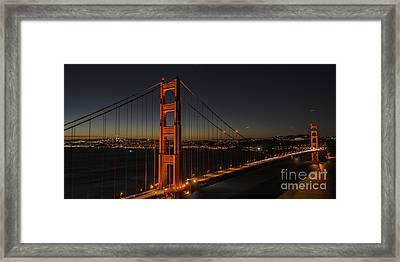 Sf Departure Framed Print