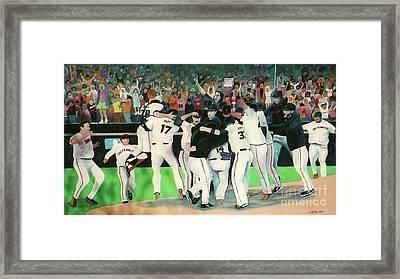 Sf Giants 2010 World Series Championship Celebration Framed Print by Pete  TSouvas