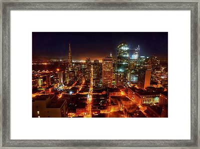 Framed Print featuring the photograph Sf Gotham City by Peter Thoeny