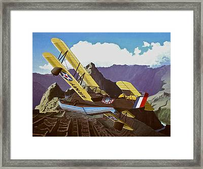 Sf Loening Over Peru Framed Print by Wes Harrison