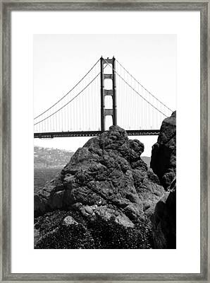 S.f. Rock Framed Print by Tom Melo