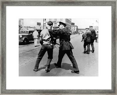 Sf Striker Arrested Framed Print