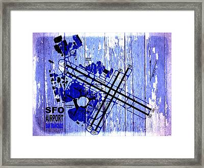 Sfo Airport Map Framed Print