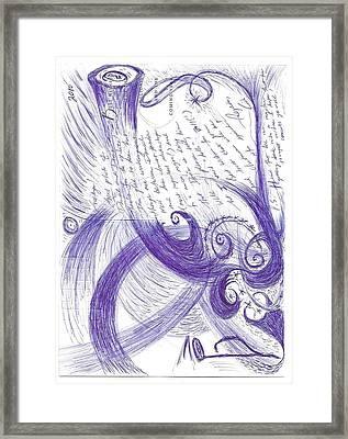 Sfz Image Scan Of A Woodwind Player's Mind Moments After The Trumpet's Clarion Call.. Framed Print by Rich Graham