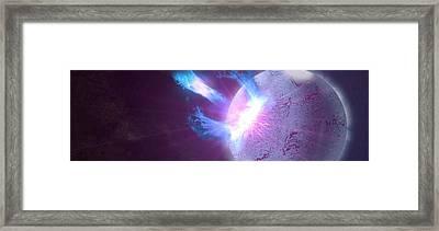 Sgr J1550 5418 Soft Gamma Ray Repeater Sgr Gamma Radiation 98514 3840x1200 Framed Print