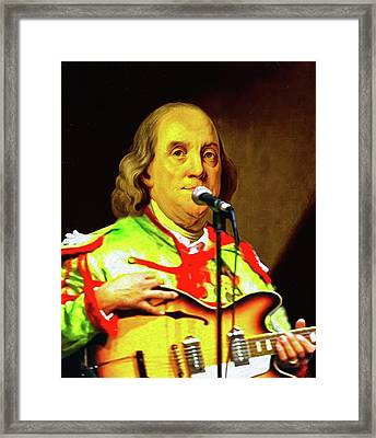 Sgt Ben's Lonely Hearts Club Band Framed Print