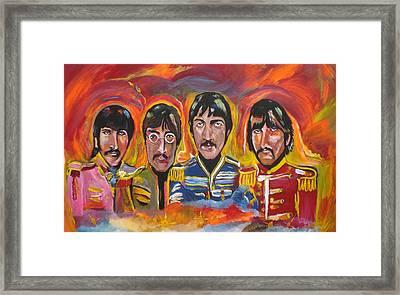 Sgt Pepper Framed Print by Colin O neill