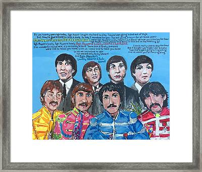 Sgt.pepper's Lonely Hearts Club Band Framed Print by Jonathan Morrill