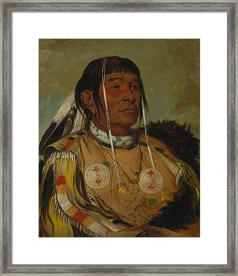 Sha-co-pay, The Six, Chief Of The Plains Ojibwa Framed Print by George Catlin
