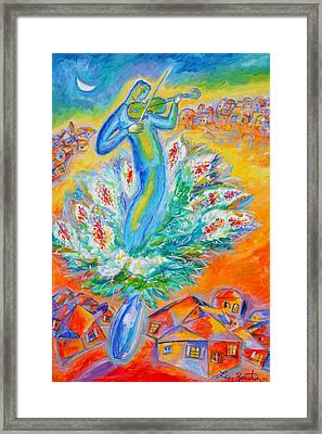Shabbat Shalom Framed Print by Leon Zernitsky
