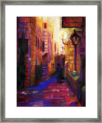 Shabbat Shalom Framed Print by Talya Johnson