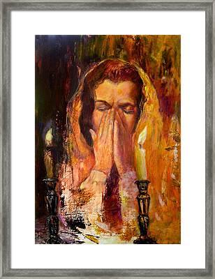 Shabbat's Pray Framed Print