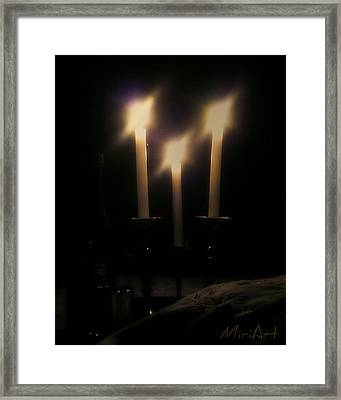 Shabbos Candles Framed Print