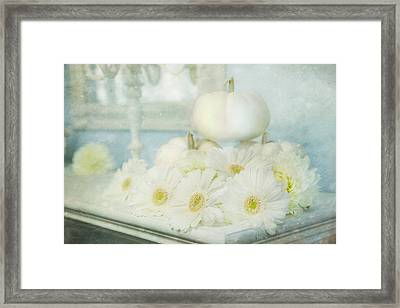 Shabby Chic Thanksgiving Framed Print by Theresa Tahara