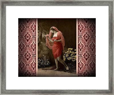 Shabby Chic Vintage Diva Framed Print