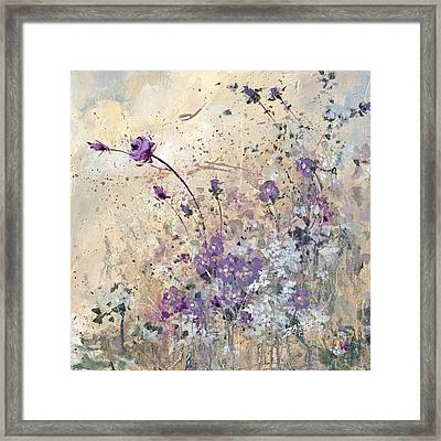Framed Print featuring the painting Shabby Eleven by Laura Lee Zanghetti