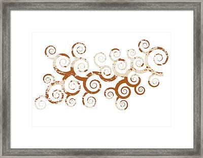 Shabby Ornament Framed Print