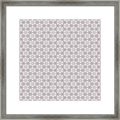 Shabby Pink Lace Framed Print