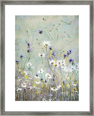 Framed Print featuring the painting Shabby Ten by Laura Lee Zanghetti