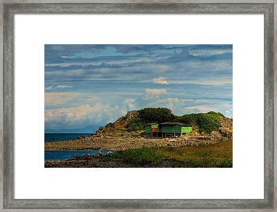 Shack Island Framed Print by R J Ruppenthal