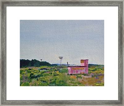 Shack On Sunrise Drive In Monterey Framed Print by Paul Thompson