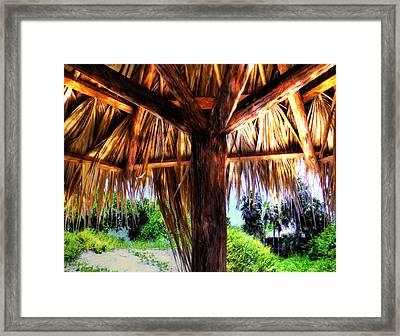 Shade On The Beach Framed Print