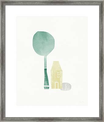 Shade Tree- Art By Linda Woods Framed Print