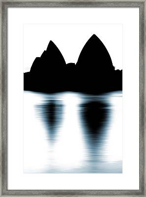 Shaded Peaks  Framed Print