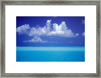Shades Of Blue Framed Print by Ron Dahlquist - Printscapes