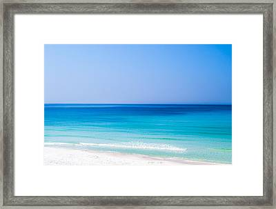 Shades Of Blue Framed Print by Shelby  Young