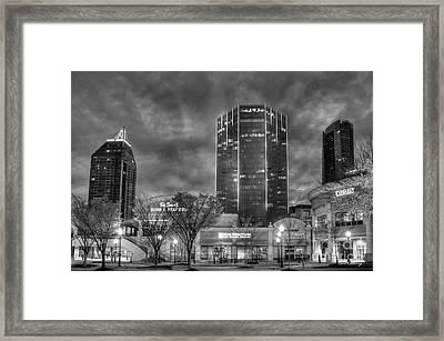 Shades Of Business Buckhead Financial District Atlanta Art Framed Print