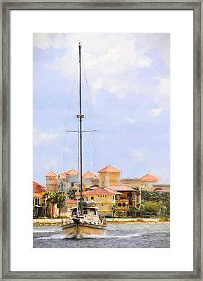 Shades Of European Village Framed Print by Alice Gipson
