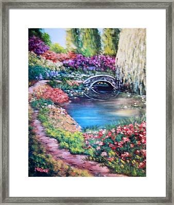 Shades Of Giverny Framed Print