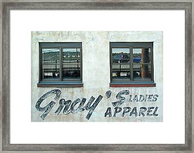 Shades Of Gray Framed Print by Ethna Gillespie