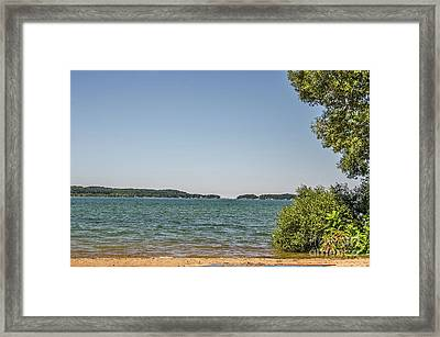 Framed Print featuring the photograph Shades Of Green And Blue by Sue Smith