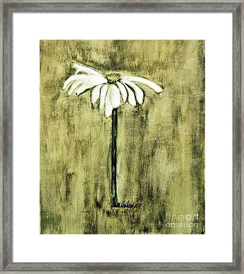 Shades Of Green Daisy Framed Print