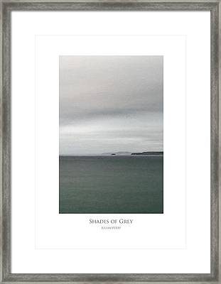 Framed Print featuring the digital art Shades Of Grey by Julian Perry