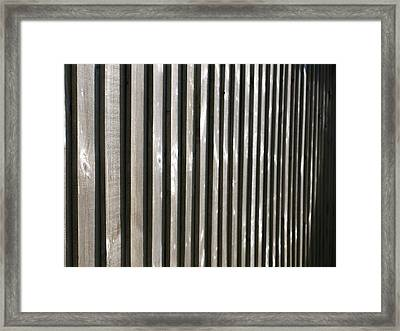 Textures Series - Boards Framed Print by Richard Brookes