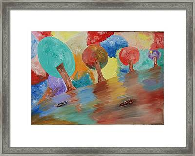 Shades Of Illusive Nature  Framed Print by Aim to be Aimless