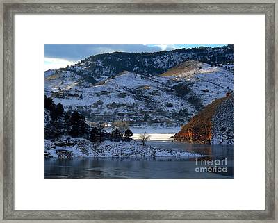 Shades Of Lake Sunsets -2 Framed Print by Diane M Dittus
